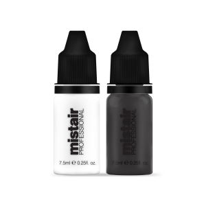 Black and White Duo Airbrush makeup