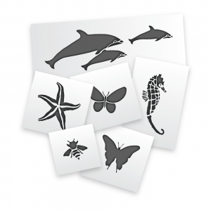 Butterflies, Bees and Sealife Stencils