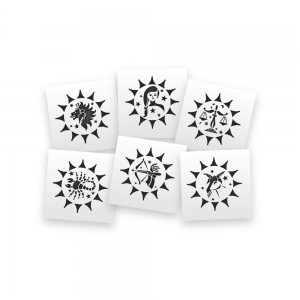 Zodiac sign stencils