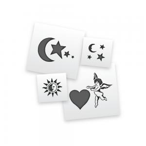 Moons, Stars and Cherub Stencils