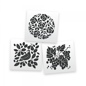 Floral Clusters Stencils