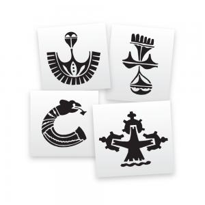 Aztec Brooch Stencils