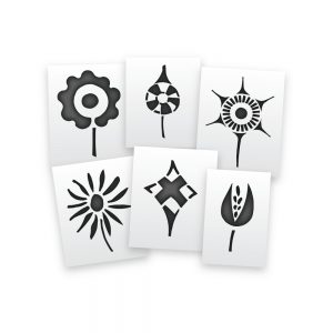 Aztec Pins Stencils