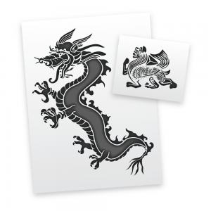 Eastern Creatures Stencils