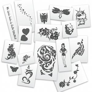 Mistair Celebrity Tattoo Stencil Pack